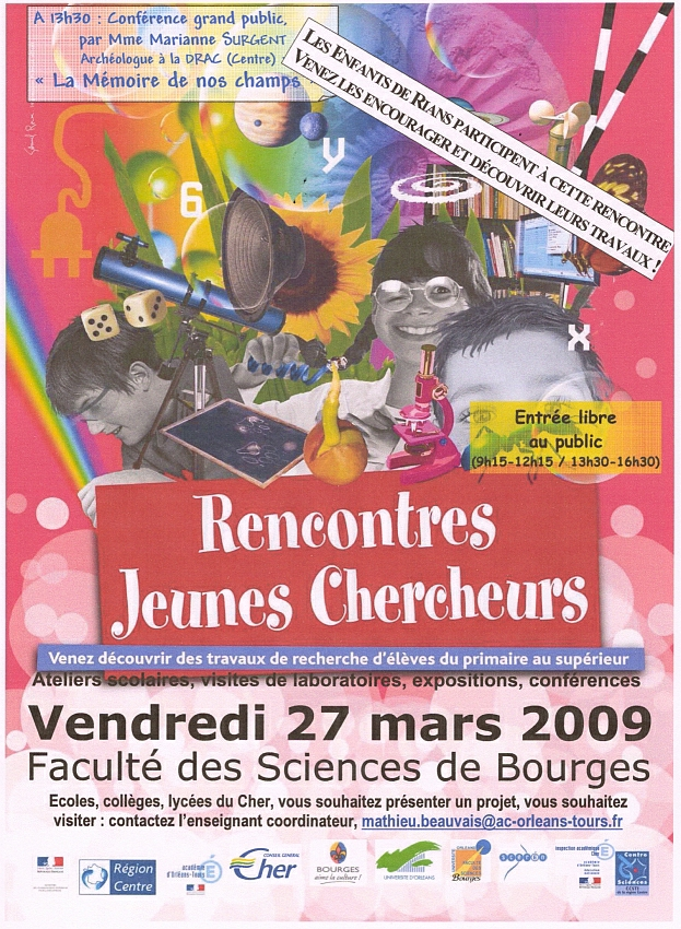 Rencontre Jeunes Chercheurs dans le Cher (RJC )